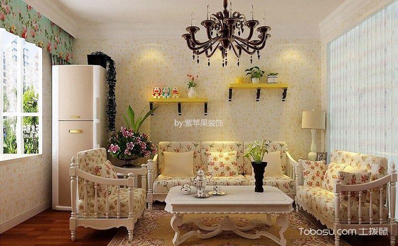 田园复式楼装修设计图,用鲜花装扮出精巧美家