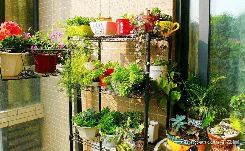 阳台花架装修效果图,让花儿沐浴更多阳光