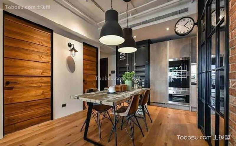 一室一厅设计装修案例,都市里的工业风