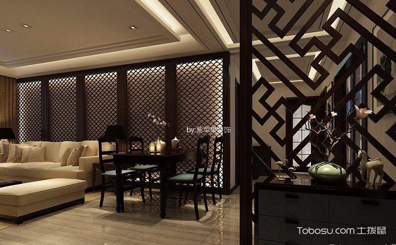 中式客厅玄关装修效果图,八款设计八种精彩