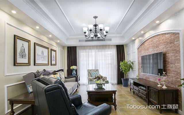 美式拱形门电视墙设计图欣赏,美观又时尚_土拨鼠装修图片