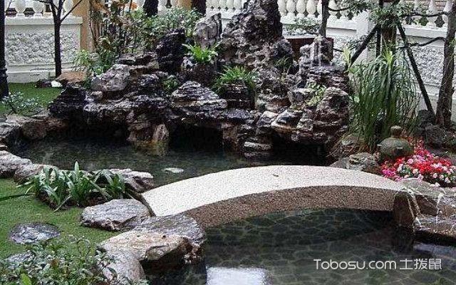 庭院鱼塘的设计效果图,庭院鱼塘设计成功的几大要素图片