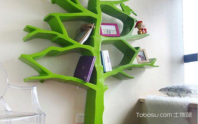 创意树形儿童房书架设计