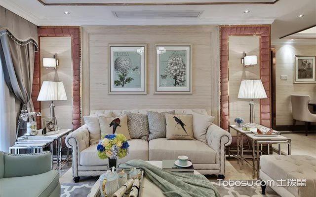 欧式风格设计图之沙发背景墙设计