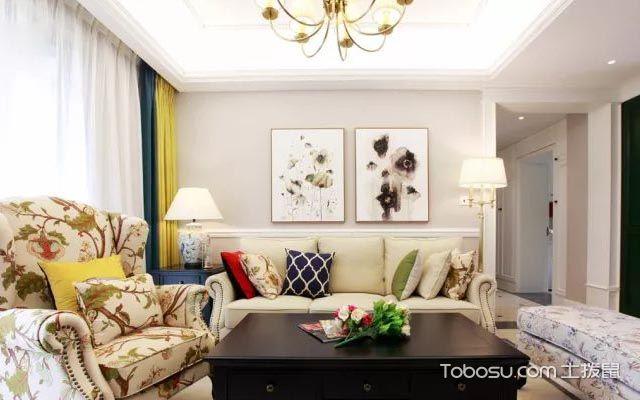 客厅沙发背景墙双幅装饰画