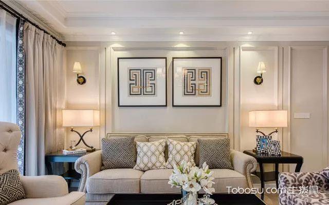 客厅沙发背景墙装饰画色彩