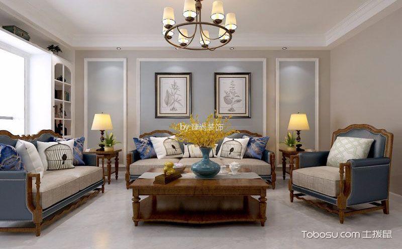 时尚美式客厅装修实景图,感受万种风情