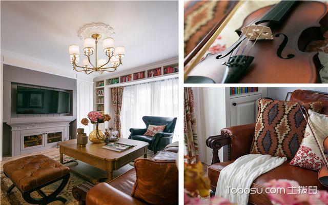 美式风格装修样板间-客厅细节