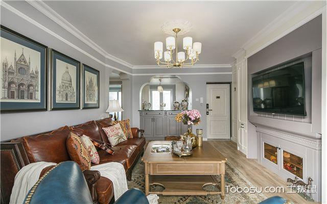 美式风格装修样板间-客厅