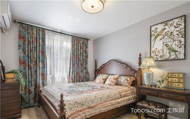 美式风格装修样板间-卧室