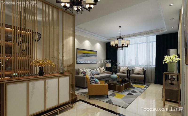 美式沙发背景墙效果图,墙面艺术展现美观_土拔鼠装修图片