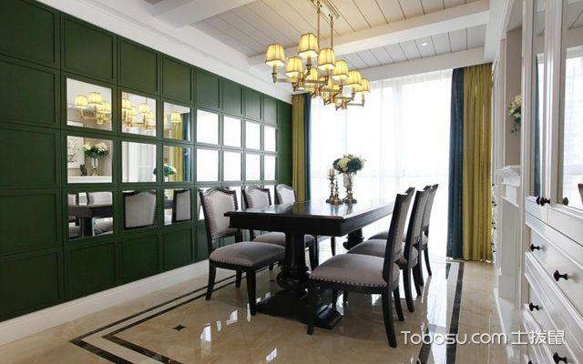 128平米美式三室两厅效果图餐厅