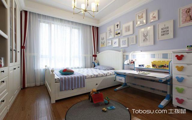 128平米美式三室两厅效果图儿童房
