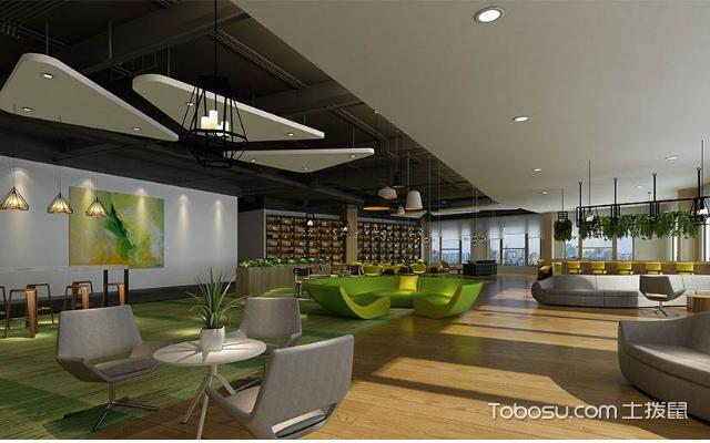 100平办公室装修效果图,简单舒适的装饰