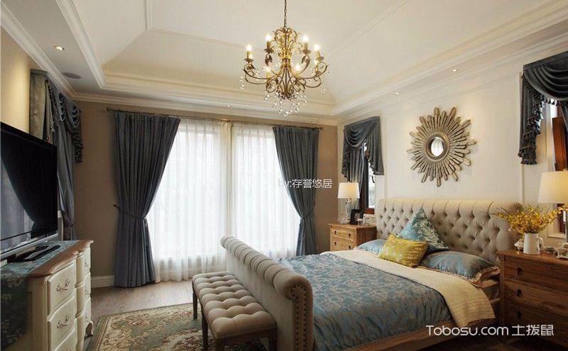 美式别墅装潢设计图,给您一份自在舒适的浪漫