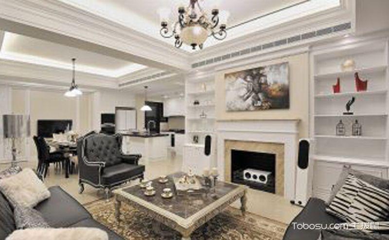 欧式两室一厅设计案例,大气又高雅