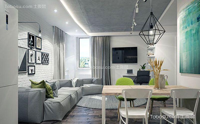 现代简约公寓装修案例,简约而不简单的美