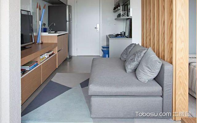 33平米小公寓装修图之客厅设计