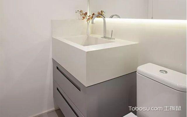 33平米小公寓装修图之卫生间内部布局