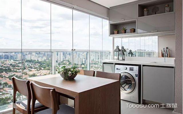 33平米小公寓装修图之餐厅设计