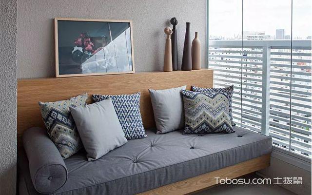 33平米小公寓装修图之阳台布局