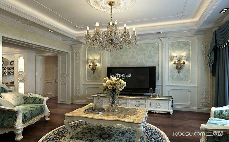 欧式客厅电视背景墙设计图,并不仅仅是一面墙图片