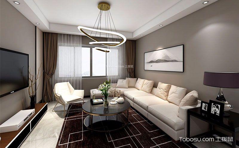 三室一厅装修设计图,简单的设计呈现不一样的层次美图片