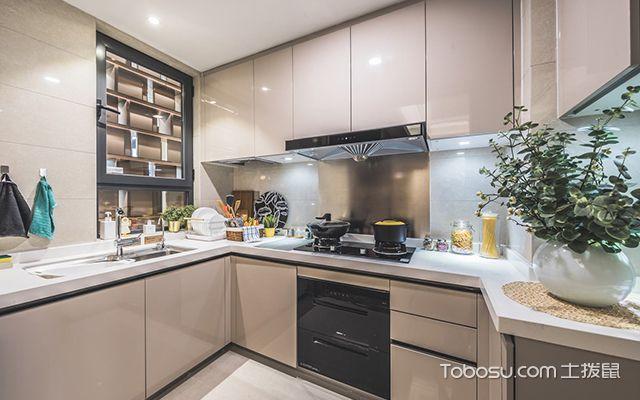 95平米三室两厅装修案例—厨房