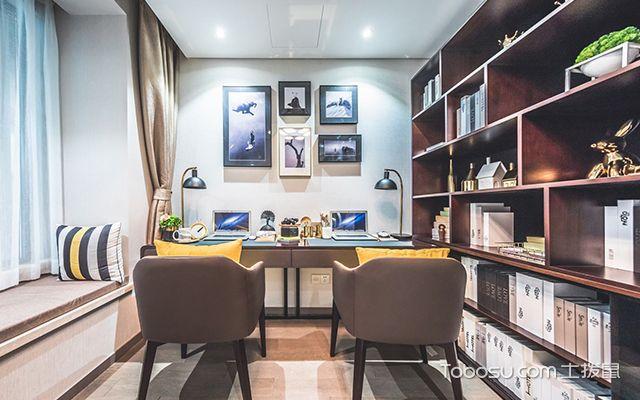95平米三室两厅装修案例—书房