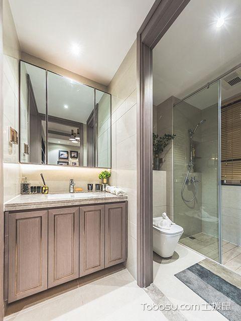 95平米三室两厅装修案例—卫生间