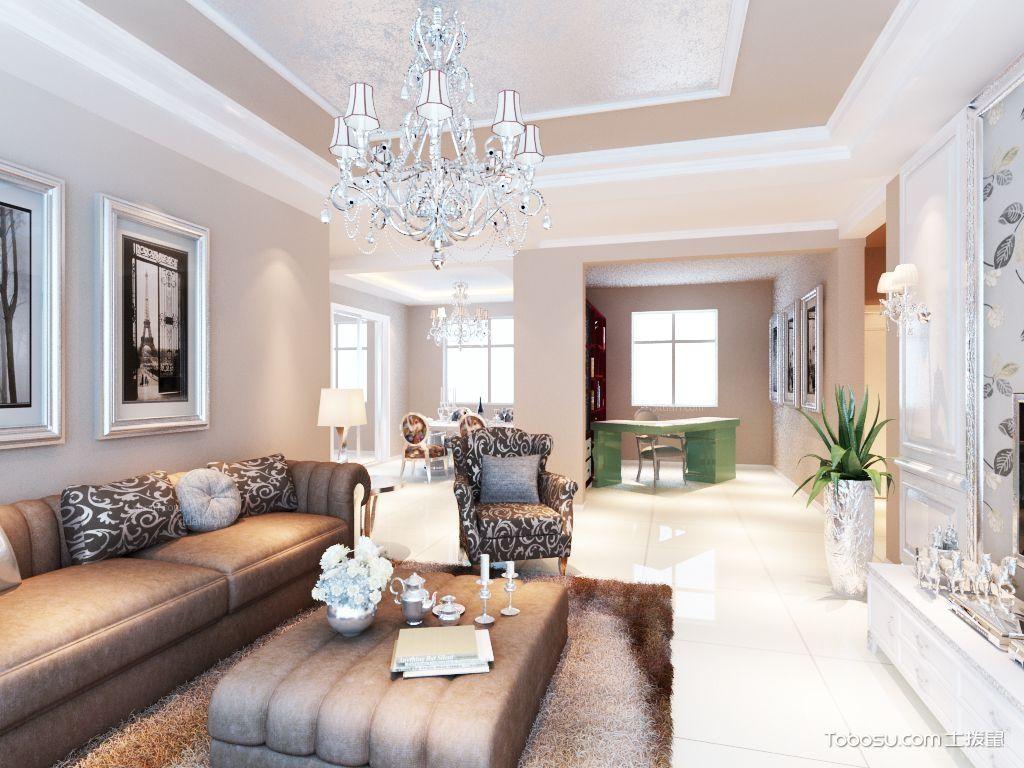客厅石膏线吊顶设计图,简约中的时尚气息_土拔鼠装修图片