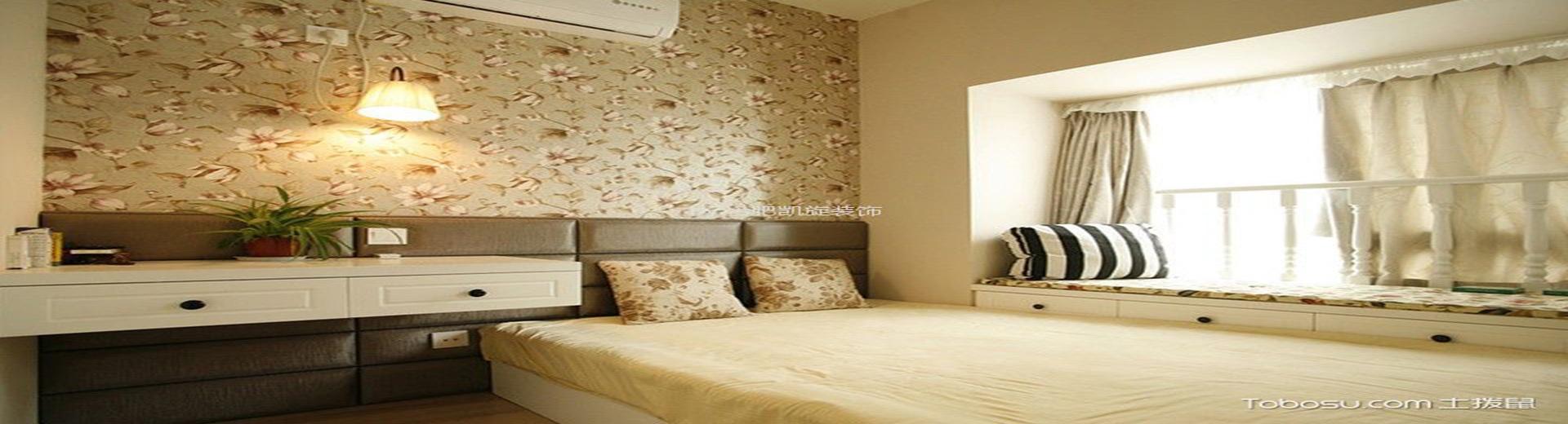 臥室榻榻米裝潢圖片,清新舒爽別致空間