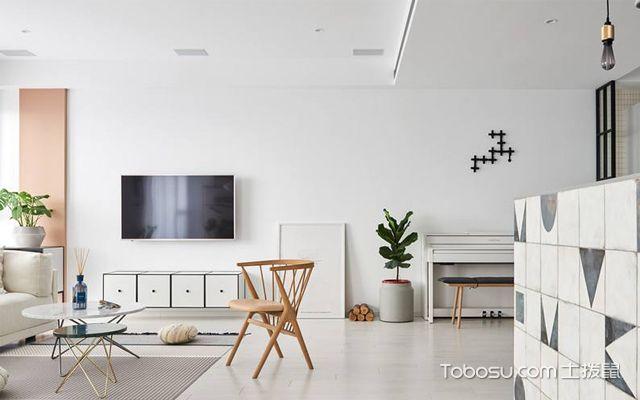 现代简约的宜家电视背景墙装修设计