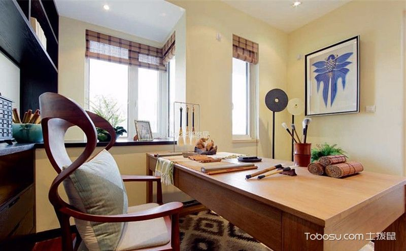 4平方小书房装饰图,小空间中的优雅别致