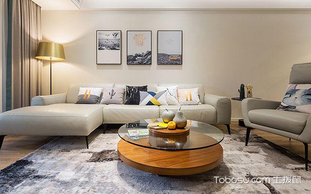 简约风格装修案例—沙发背景墙