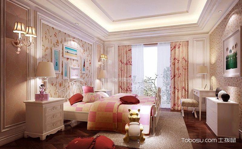 公主儿童房装潢平面图,给孩子最梦幻的空间