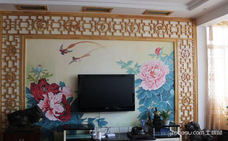 手绘墙装修案例,有别致更有艺术美感