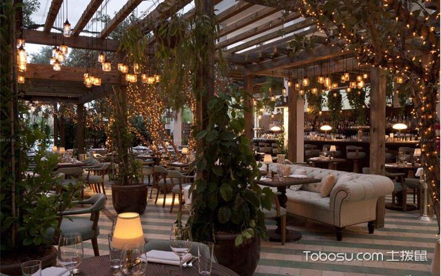 餐厅绿植摆放效果图大全