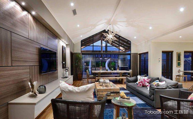 斜顶客厅吊顶装潢设计图,让缺点变优点