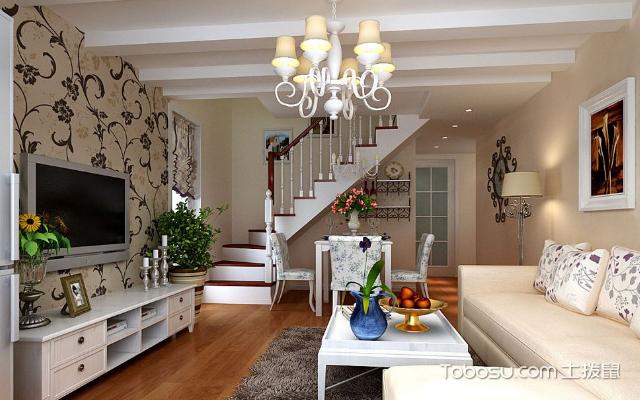 40平米复式房装修图片,简单设计变豪宅图片