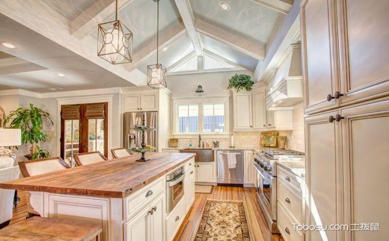 长方形厨房装饰实景图,让空间看着更清爽