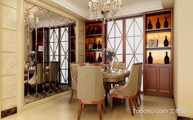 厨房酒柜推拉门效果图,不一样的装饰效果-土拨鼠装修