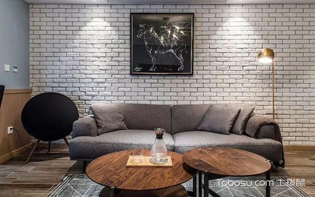 112平米三居室户型客厅装修