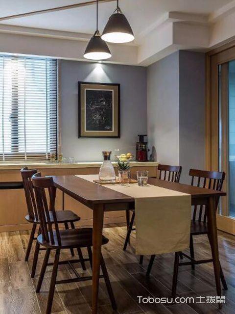 112平米三居室户型装修餐厅设计