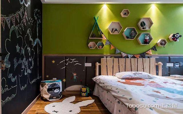 112平米三居室户型儿童房装修