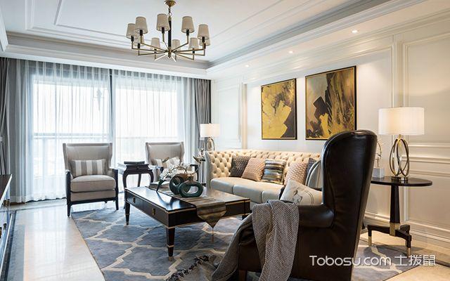 简美风格案例—客厅设计