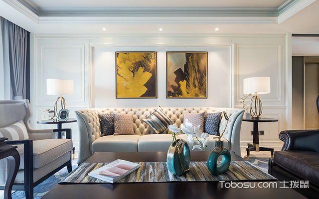 简美风格案例—客厅空间