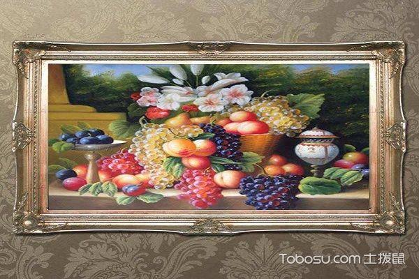 欧式风格的餐厅画