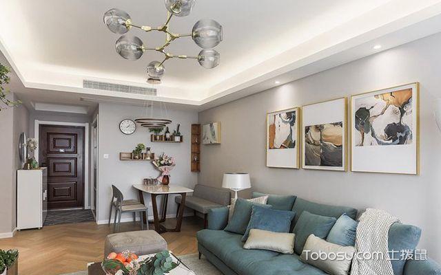 90平米三室两厅案例—客厅