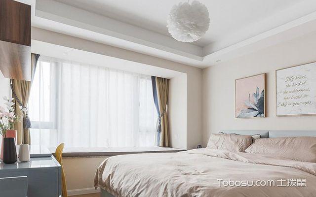 90平米三室两厅案例—主卧